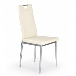 Sedia in ecopelle Ginevra bianco