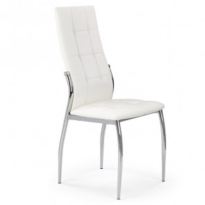Sedia in ecopelle Sveva bianco