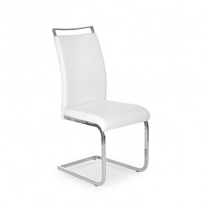 Sedia in ecopelle Adelaide Gihome ® bianco