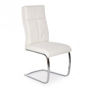 Sedia in ecopelle Fedra bianca