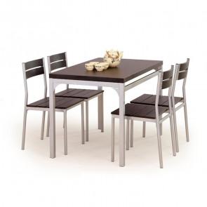Set tavolo e 4 sedie Oasi wengè