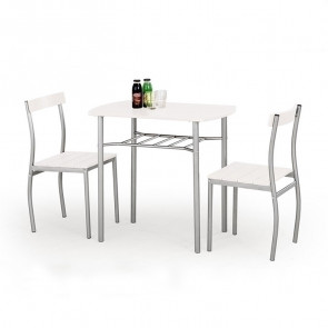 Set tavolo e 2 sedie Lunch bianco