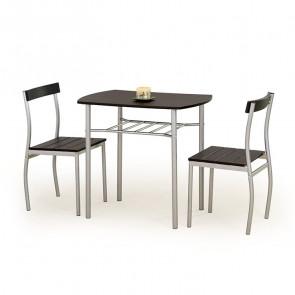 Set tavolo e 2 sedie Lunch wengè