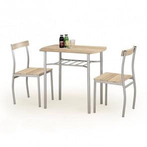 Set tavolo e 2 sedie Lunch rovere