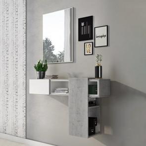 Mobile ingresso Rich bianco cemento