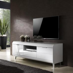 Porta tv Duna grande bianco lucido