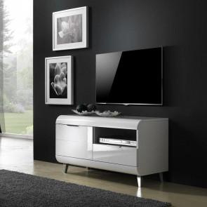 Porta tv Duna Gihome ® piccolo bianco lucido