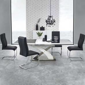 Tavolo allungabile Iride nero bianco