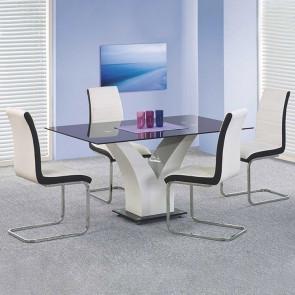 Tavolo Ninfea vetro nero bianco