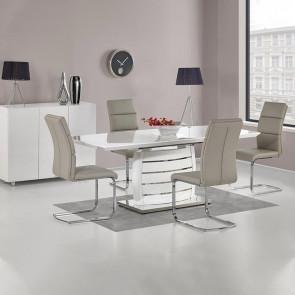 Tavolo allungabile Tiglio bianco lucido