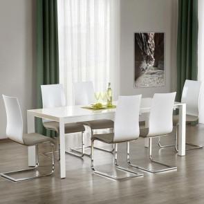 Tavolo allungabile Falco Gihome ® 130-210 bianco lucido