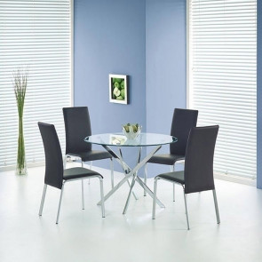 Tavolo tondo Minerva Gihome ® vetro