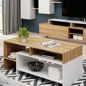 Tavolino Dora rovere bianco moderno