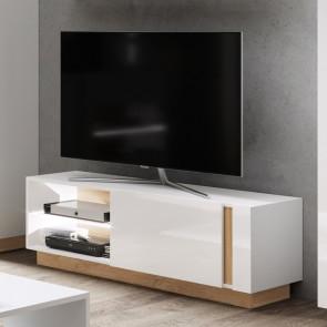 Porta tv 138 soggiorno Noa bianco