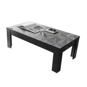 Tavolino da salotto Prisma grigio con serigrafia