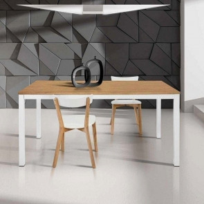 Tavolo allungabile Ben bicolore 110x70 cm