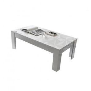 Tavolino da salotto Prisma bianco con serigrafia