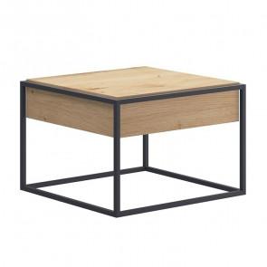 Tavolino Erice rovere metallo 60