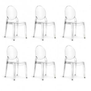 Set 6 sedie policarbonato Elisabeth Gihome ®