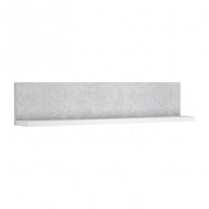 Mensola per parete attrezzata Megan bianco-cemento