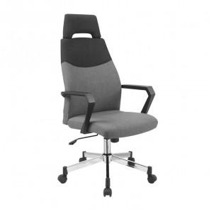 Sedia da ufficio design Caliber tessuto grigio