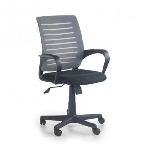 Sedia da ufficio Flaminia tessuto nero e grigio