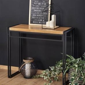 Scrivania consolle Flower industrial legno metallo