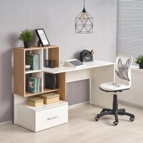 Scrivania ufficio Jade bianco rovere moderna