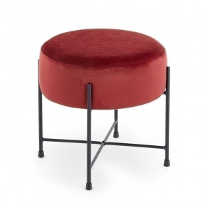Pouf Oregon tessuto rosso design moderno industrial