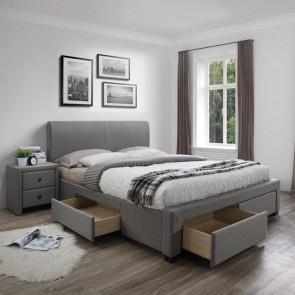 Letto 160 Mestre Gihome ® tessuto grigio moderno