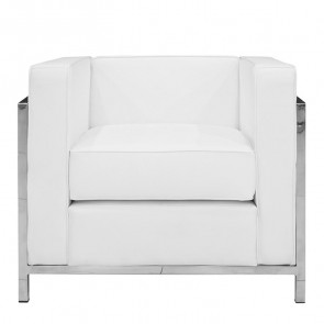 Poltrona LC design ecopelle bianca