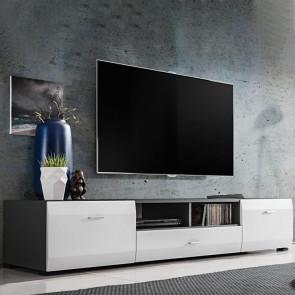 Porta tv Sting grafite bianco opaco