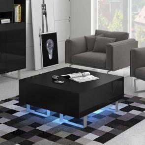 Tavolino soggiorno Milo nero nero lucido