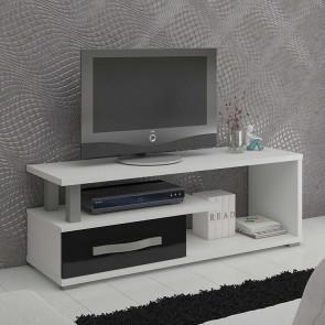 Mobile porta tv Eddy bianco nero lucido