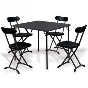 Set tavolo + 4 sedie pieghevole salvaspazio Tanya