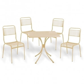 Set tavolo + 4 sedie esterno giardino Morena