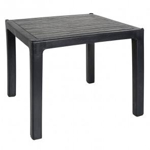 Tavolo quadrato Dino polipropilene antracite esterno giardino