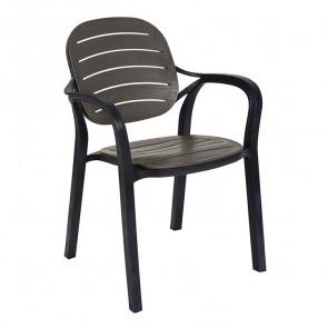 Sedia Siesta polipropilene antracite esterno e interno