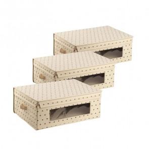 Set 3 scatole per armadio 48x36 Panna