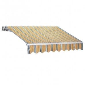 Tenda da sole a bracci riga gialla 250x200