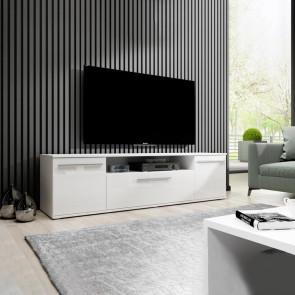 Porta tv Alfredo laccato bianco lucido