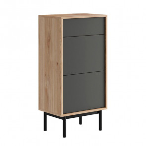 Base Avola 1 cassetto 2 ante legno grafite
