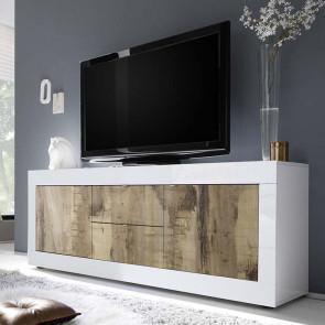 Porta tv 2 ante 2 cassetti Basic bianco lucido pero