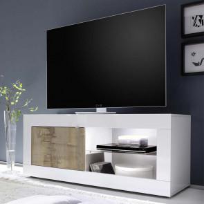 Porta tv Basic bianco lucido pero piccolo