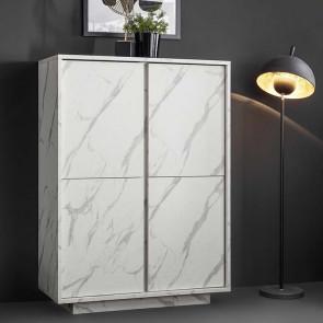 Contenitore 4 ante Carrara marmo bianco