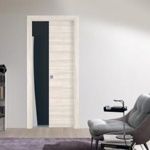 Porta interna Aurora scorrevole scomparsa 80 x 210 avena matrix