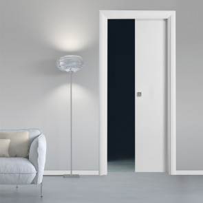 Porta interna Greta scorrevole scomparsa 80 x 210 bianco