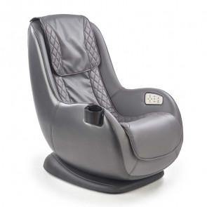 Poltrona relax Wolbi massaggiante in ecopelle grigia