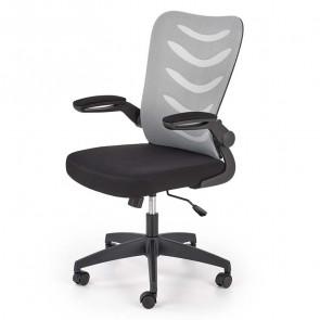 Sedia ufficio Ombretta tessuto rete grigio nero