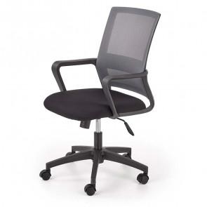 Sedia ufficio Fanny tessuto rete grigio nero